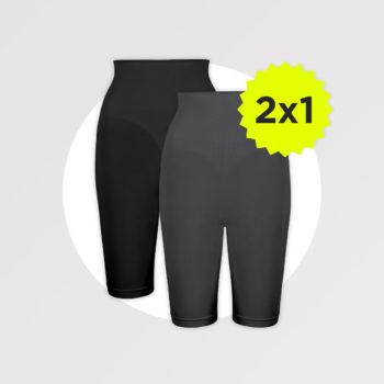 bodyboo pantaloncini modellanti nero charcoal promo 2x1 1 - BodyBoo